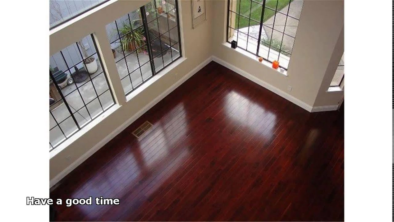 Brazilian cherry hardwood floor youtube for Bella hardwood flooring prices
