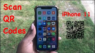 iPhone 11 / 11 Pro Max: How to Scan QR Codes with Built-In QR  Scanner Reader.