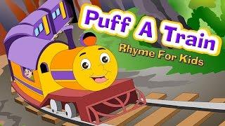 puff a train nursery rhyme with lyrics i kids songs english rhymes for children poem