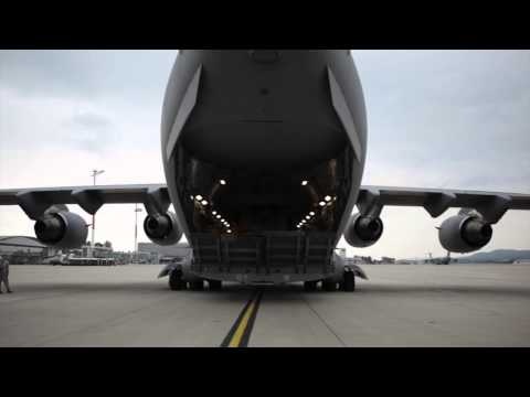 How tanks fly: C-17s transport Army M1A2 tanks in support of NATO allies