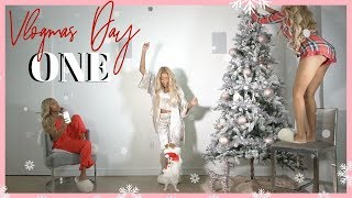 CHRISTMAS TREE SHOPPING! A STRUGGLE! VLOGMAS DAY 1