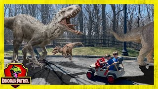 Giant T-Rex Adventure. 60+ Minutes of Dinosaurs with Dinosaur Patrol - Chase and Cole Adventures