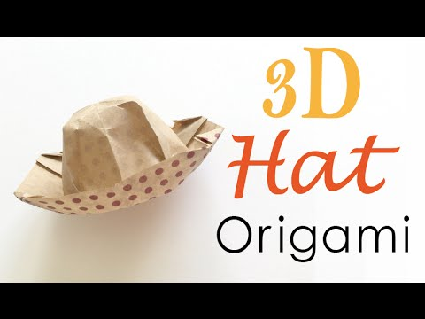 3d origami paper hat tutorial origami kawaii 093 youtube