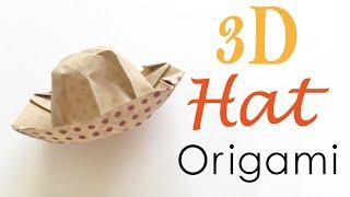3d Origami Paper Hat Tutorial - Origami Kawaii〔#093〕