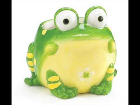 Ceramic Frog Planters