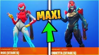 How To Unlock MAX! Rox & Vendetta Skins in Fortnite! Season 9 (Free Rewards)