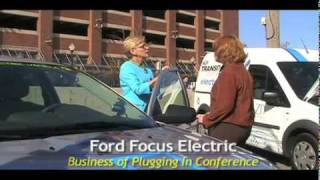 Michigan Gov. Jennifer Granholm test drives electric vehicles at the Business of Plugging In