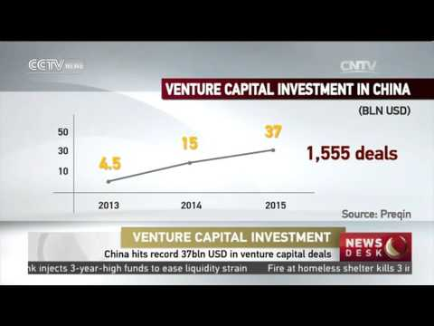 China hits record 37bln USD in venture capital deals