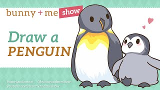How to draw Penguins - Animal Art Tutorial