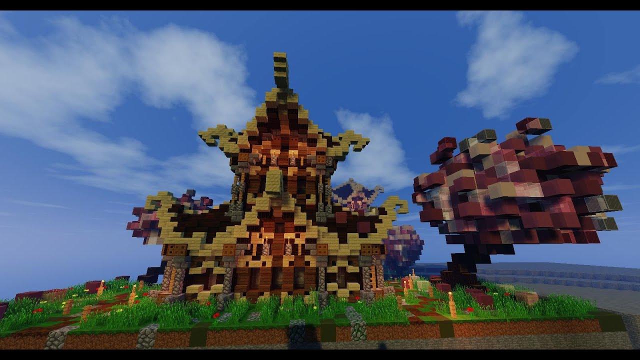 Tuto minecraft comment construire une maison fantastique for Architecture fantastique