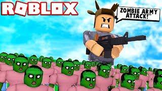 WORLD'S BIGGEST ROBLOX ZOMBIE ARMY! (Roblox Zombie Apocalypse Simulator)
