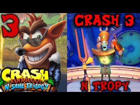 Crash Bandicoot N. Sane Trilogy - Crash Bandicoot Warped - Part 3 - Level 11-15 & N Tropy