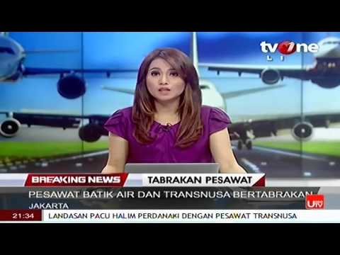 Video Amatir Tabrakan Batik Air Dengan Trans Nusa Di Runway Halim Perdana Kusuma Jakarta