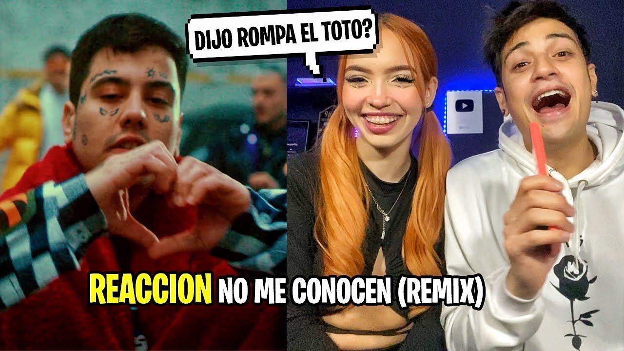 REACCION con MI AMIGA a NO ME CONOCEN (REMIX) - BANDIDO, DUKI, REI, TIAGO PZK