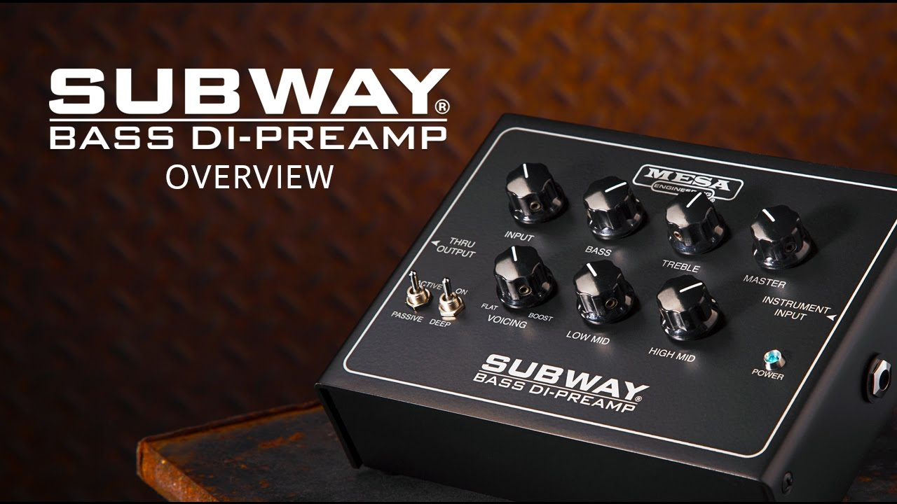 Mesa Boogie Subway Bass Di Preamp Pedal Feature Overview
