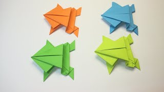Как БИСТРО сделать прыгающую лягушку из бумаги ЛЯГУШКА - попрыгушка