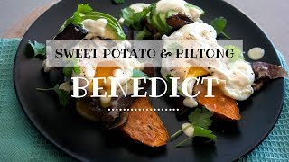 The Healthiest Sweet Potato & Biltong Benedict