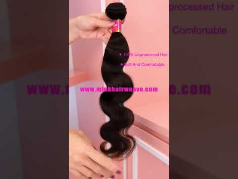 Mink Hair Weave Remy Human Hair Bundle Body Wave Hair ...