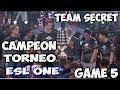 TEAM SECRET VS VICI GAMING GAME 5 RESUMEN ESPAÑOL TORNEO ESL ONE FINAL /DOTA 2