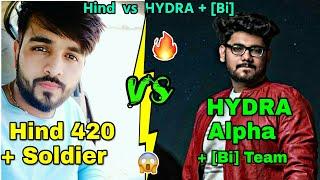 HYDRA +【Bi】vs HIND 🔥 ; Hind Gaming vs HYDRA Alpha + 【Bi】Python ,Tipa, T2 fight in Georgopol;Emulator