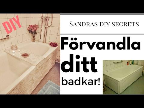 Gör om ditt badkar med decorplast. DIY - YouTube