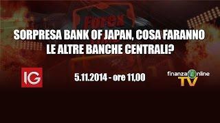 Forex Time - SORPRESA BANK OF JAPAN, COSA FARANNO LE ALTRE BANCHE CENTRALI?