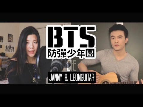 [Acoustic English Cover] BTS (방탄소년단) - LIE by JANNY ft. LeonGuitar