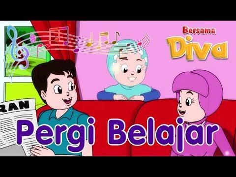 Pergi belajar | Diva bernyanyi | Lagu Anak Channel