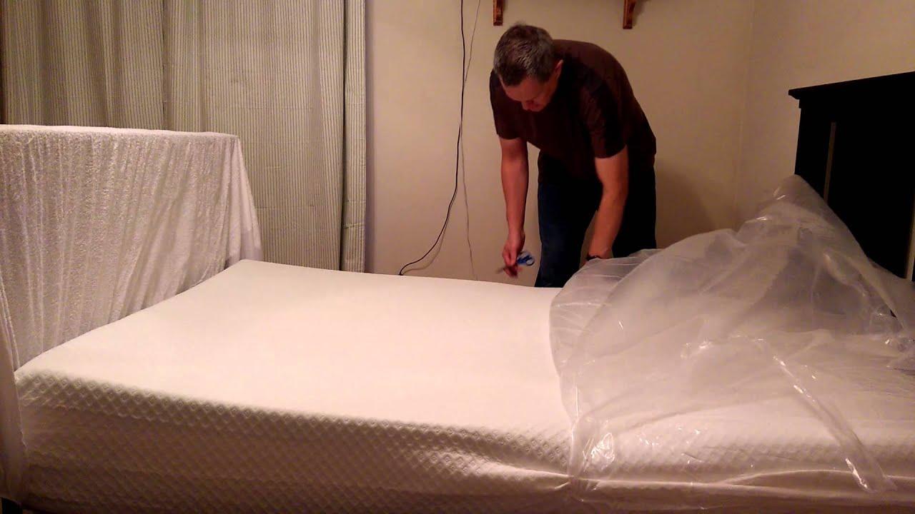 comfort tech serene foam 10 mattress unboxing youtube