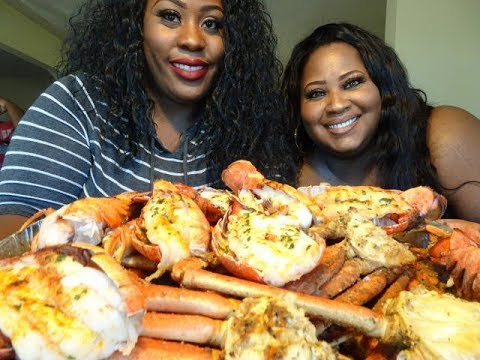 Seafood Mukbang!!!!!! Crab legs, Lobster tails, Shrimp