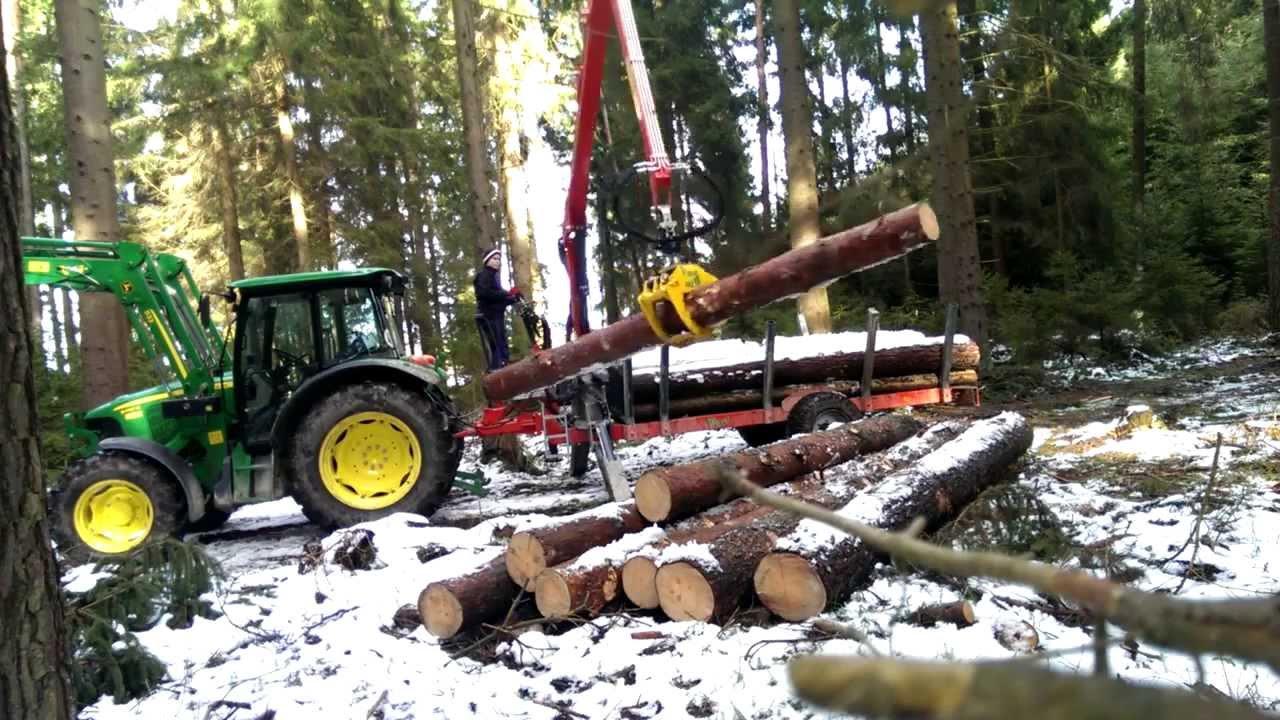 Fabelhaft John Deere 5070M mit Perzl PRW 6 Brennholzwagen beim laden. - YouTube #HQ_91