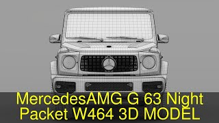 3D Model of Mercedes-AMG G 63 Night Packet W464 2018 Review