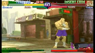 Street Fighter Alpha 3(Zero 3) Expert difficulty Victor Sagat 2:0 Playthrough