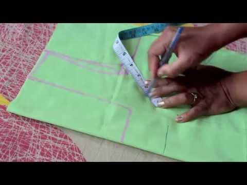 How To Cut Blouse In Cross Cutting In Telugu 34