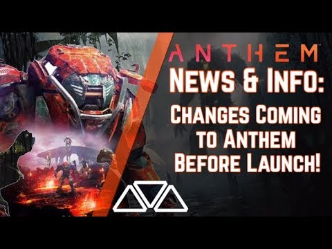Anthem News & Info: NEW Changes Coming To Anthem Even Before Game's Release!