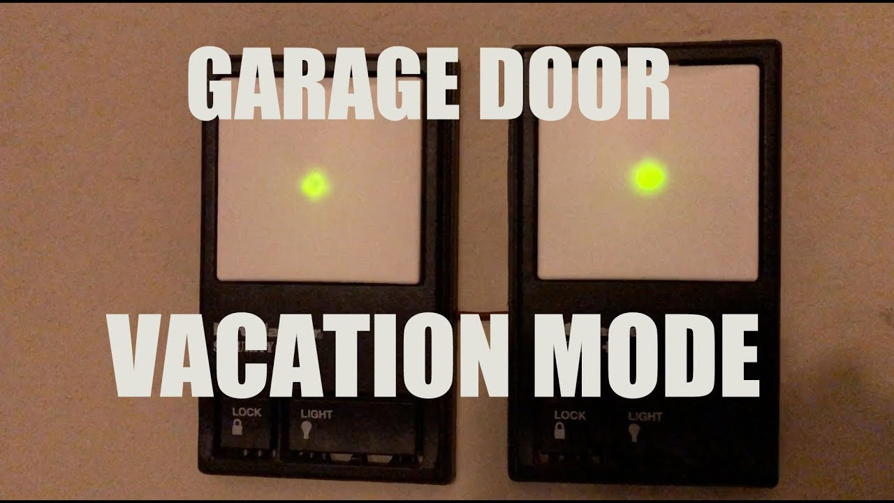 Enable Or Disable Vacation Mode For Your Garage Door Opener Switch Sears Craftsman 41a43157d Circuit Board
