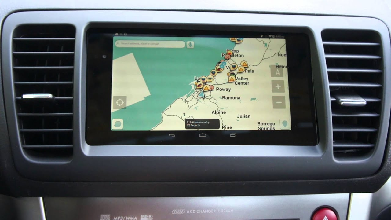 2013 Wifi Nexus 7 In 2008 Subaru Legacy Spec B Youtube