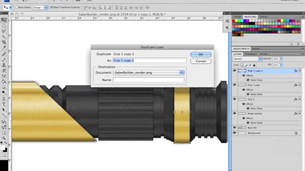 Tcss custom lightsaber hilt render tutorial using photoshop part tcss custom lightsaber hilt render tutorial using photoshop part 3 baditri Images