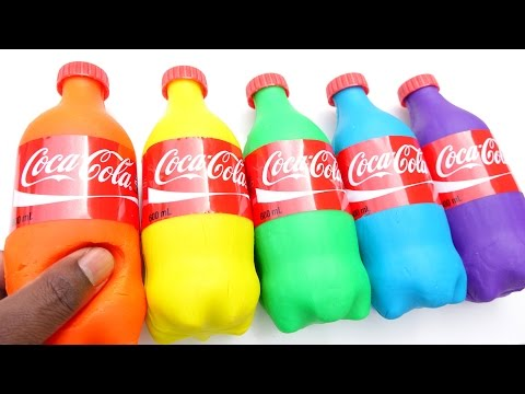 DIY How To Make Play Doh Mighty Toys Mini Coca Cola Modelling Clay Learn Colors