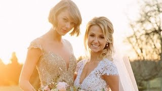 taylor swift was maid of honor at childhood bffs wedding