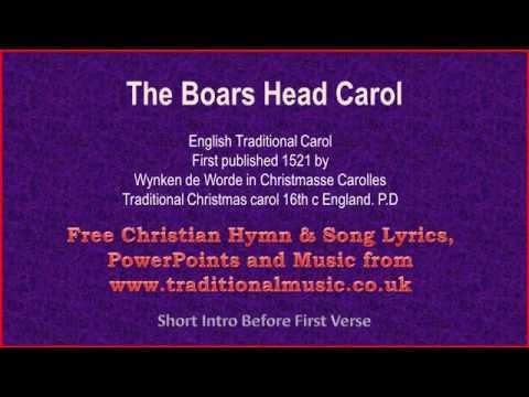 Boars Head Carol - Christmas Carols Lyrics & Music