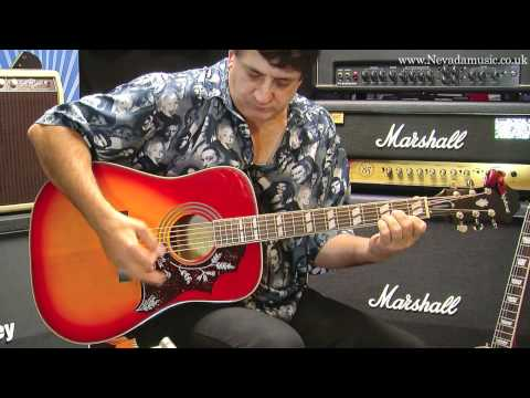 Epiphone Hummingbird Acoustic Heritage Cherry Demo - Tony Farinha @ PMT