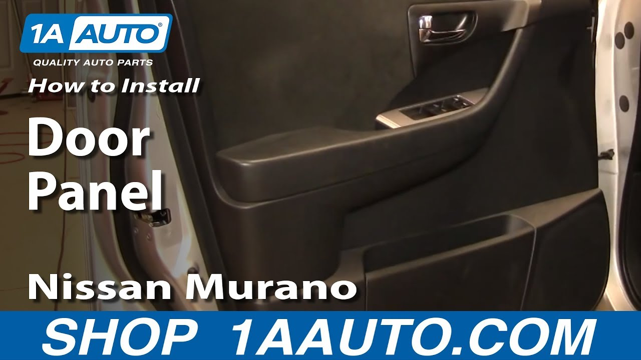 replace door panel nissan murano   youtube