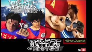 Goku vs Superman. Epic Rap Battles of History Season 3. CHIPMUNKS' version