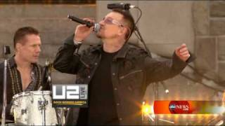 U2 - Beautiful Day Live Fordham University [HD - High Quality] Good Morning America