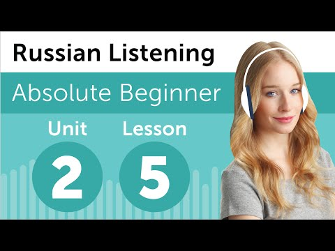 Russian Listening Comprehension - Making Plans for the Day in Russian