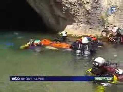 French Cave Diving Stretcher