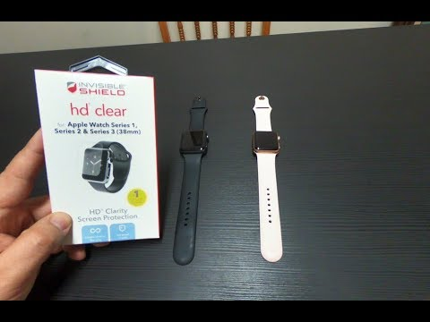 buy popular f46e0 d22f4 Zagg Invisible Shield Install | Apple Watch Series 1, 2, 3