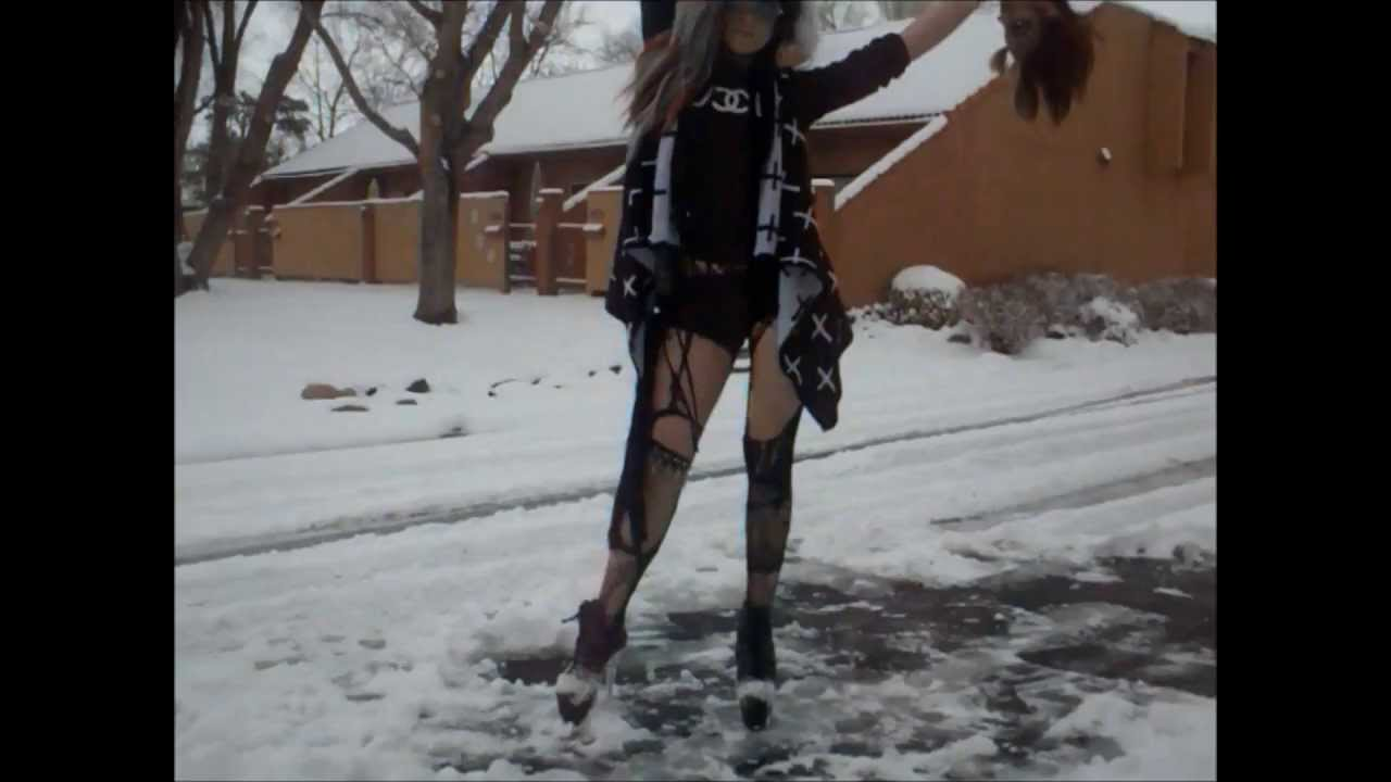 ab1772f715e Walking + Playing In Snow (IN 8 INCH HIGH HEELS)