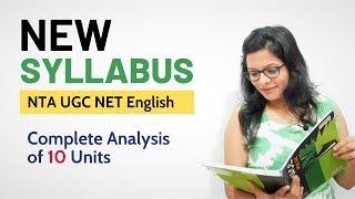 New Syllabus of NTA UGC NET English Literature | Complete Analysis